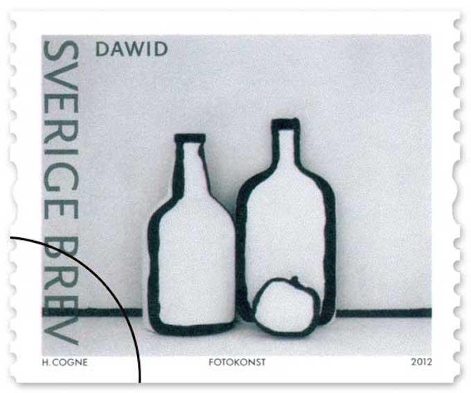 Ett av fotografierna från serien Arbetsnamn Skulptur fick även bli frimärke 2012