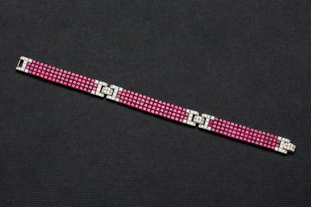 Weißgold-Armband mit Rubinen (35,79 ct) und Brillanten (1,65 ct) Startpreis: 10.000 EUR