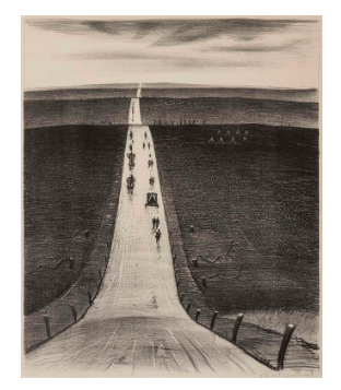 Christopher Richard Wynne Nevinson, The Road from Arras to Bapaume, 1918 Estimation basse: 59 000 EUR