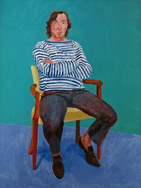 大衛·霍克尼(David Hockney)的 Gregory Evans肖像 圖片: Royal Academy(英國倫敦皇家藝術研究院)