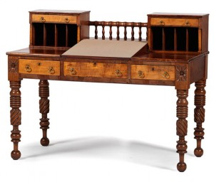 A desk purportedly used by
