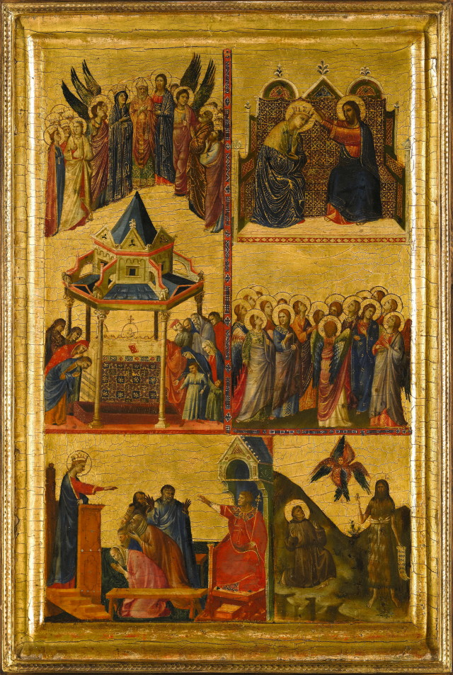 Giovanni da Rimini Episodes from the lives oft he Virgin and other saints (Diptychon, Teil 1)