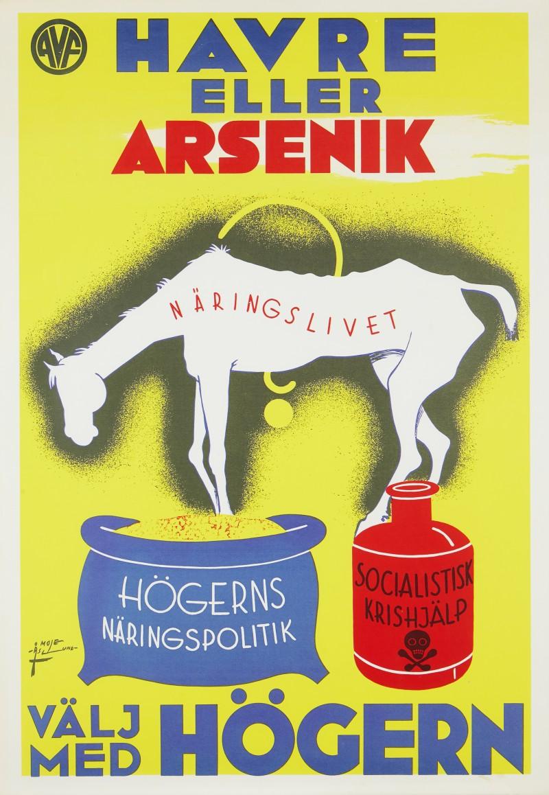 """Havre eller Arsenik"", John Mauritz Åslund via Stockholms Auktionsverk."