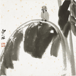 齊白石(1864-1957)SPARROW ON BANANA LEAF 圖片取自: Barnebys.hk