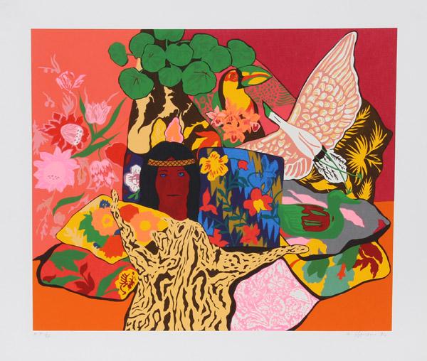 Hunt Slonem, Pillow Jungle, 1980Ro Gallery