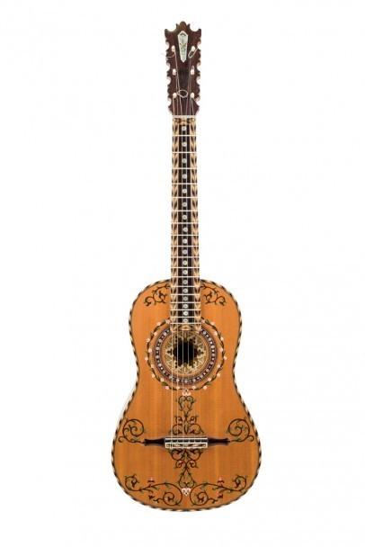 Barock-gitarr av Marcelino López Nieto. Durán Arte y Subastas