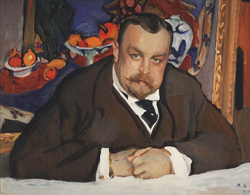 Valentin Serov, Portrait of Ivan Morozov (1910). Photo: Tretyakov Gallery.