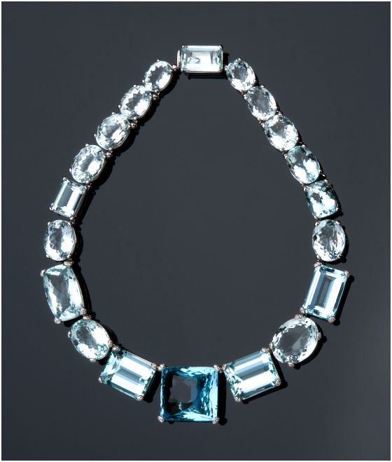 PETOCHI - white gold necklace with aquamarine, amethysts (total 68.94 ct) and diamonds (total 3.08 ct), Rome Estimate: 28 000-32 000 EUR