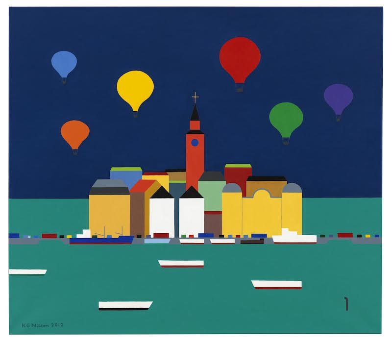 """""""Ballonger"""", olja på duk, 104 x 120 cm"""