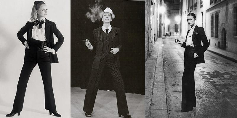 Les smokings inventés par Yves Saint Laurent en 1966