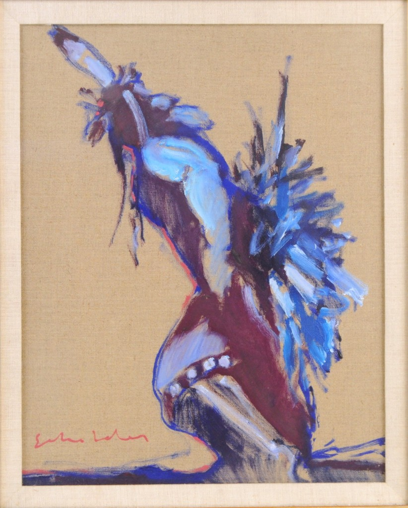 Fritz Scholder oil on linen