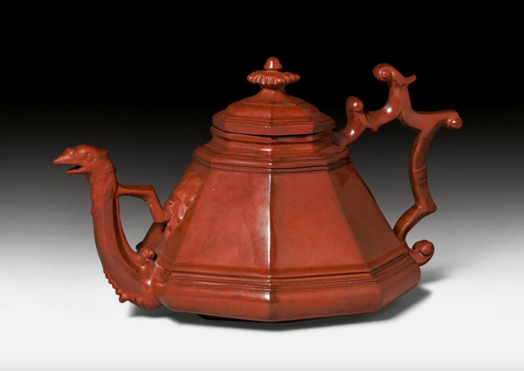 Meissen Tea Pot and Lid from Böttgersteinzeug, c. 1710, designed by Johann Jacob Irminger. Photo: Koller