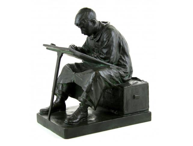 """Anton van Wouw (1882-1945), """"The Art Student"""", ©Venduehuis"""