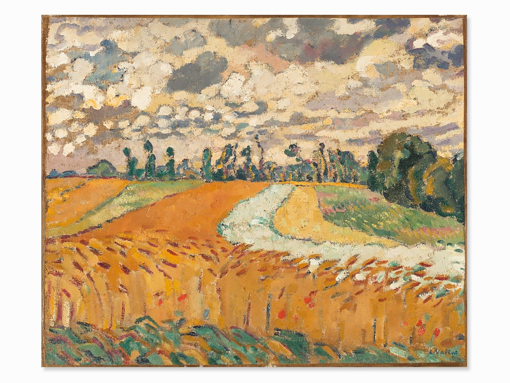 Louis Valtat, Painting, 'Les champs de blé', c. 1918-1920. Schätzpreis: 140 000 EUR. Auctionata