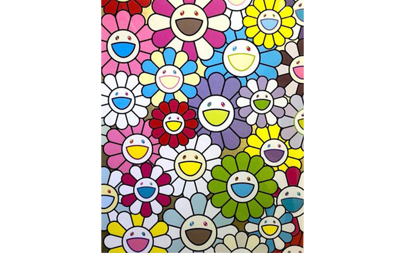 Takashi Murakami, 'A Little Flower Painting', 2018, silkscreen. Photo: Alyes Auctions.