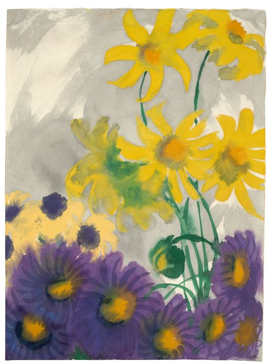 Emil Nolde, Dahlias and asters, 1937