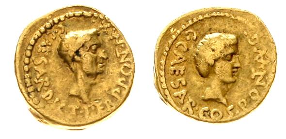 Römische Goldmünzen - Gaius Julius Caesar, Diktator auf Lebenszeit (45-44 v. Chr.) Aureus, posthum 43 v. Chr. Schätzpreis: 18.000 EUR