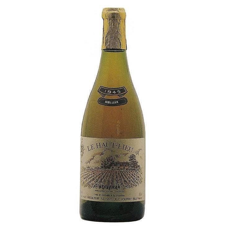 Vouvray Le Haut Lieu Moelleux Huet 2009, 4 bouteilles Vouvray Le Mont Moelleux 1er Trie Huet 2009 4 bouteilles Vouvray Le Haut Moelleux Huet 1959, 4 bouteilles