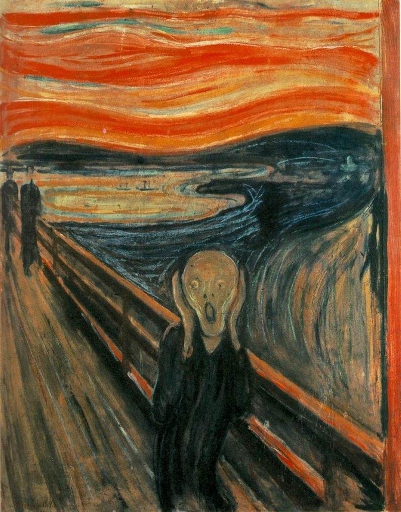 Edvard Munch, « Le Cri », la peinture fait partie de la collection de la Galerie nationale d'Oslo.