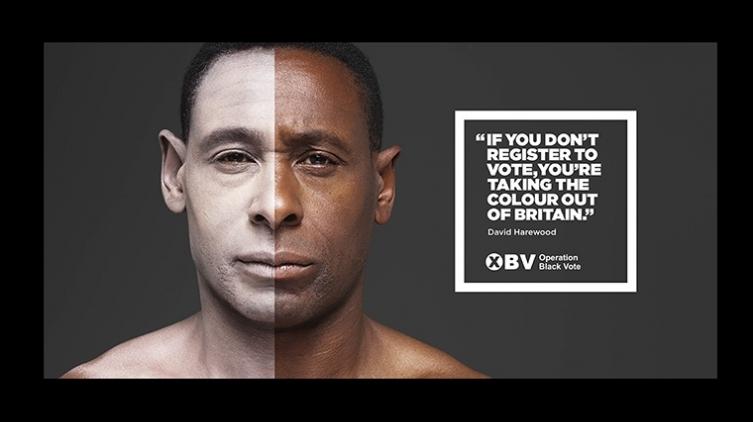 盛世廣告(Saatchi & Saatchi),全球第四大廣告傳播集團為Operation Black Vote做的廣告。這個廣告受到一些爭議,它旨在鼓勵BAME社區(BAME指的是英國的少數族群Black, Asian, and minority ethnic)去投票。