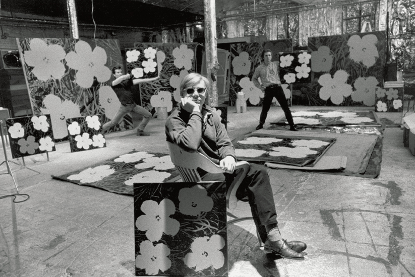 Andy Warhol in The Factory, 1964. Image: Phaidon