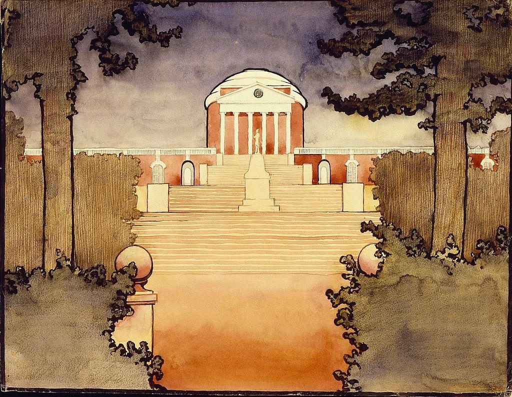 Georgia O'Keeffe, « Untitled » (Rotunda - Université de Virginia), 1912-1914, image via Wikipedia