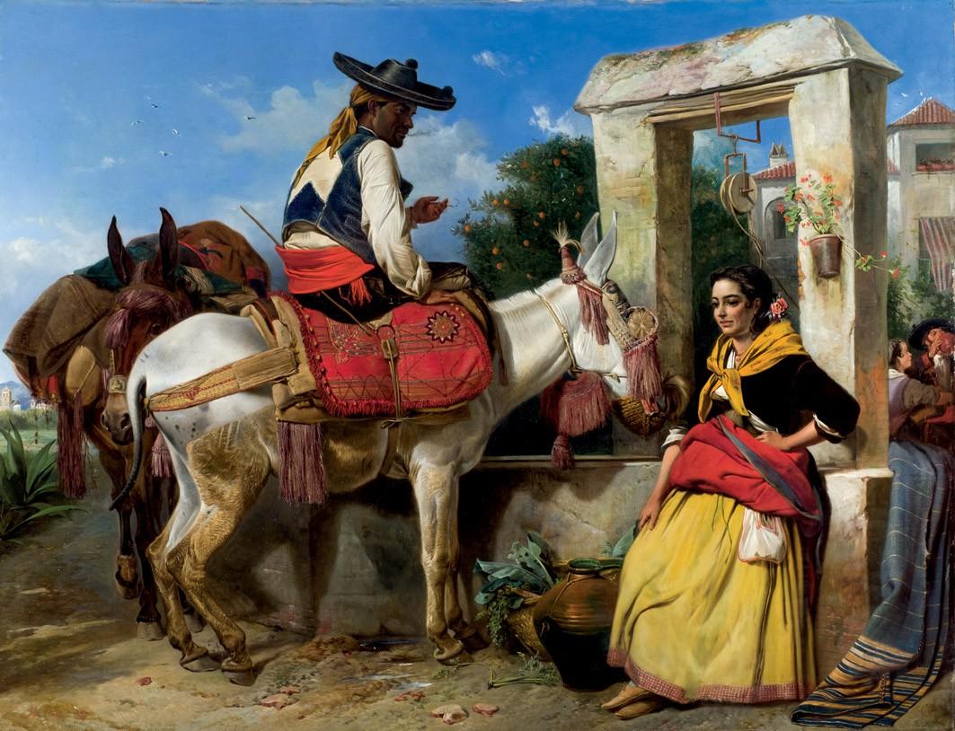 RICHARD ANSDELL (1815-1885) - Galantea andaluz, Öl/Lwd., signiert und datiert, 1859