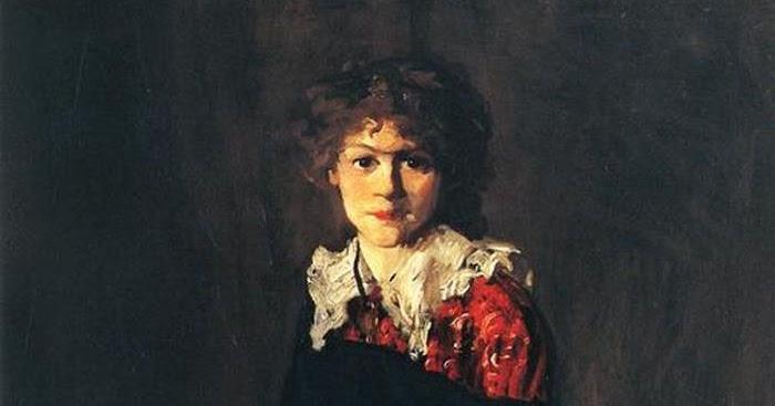 Robert Henri, « The Art Student » (détail), 1906 portrait de Josephine Nivison à 22 ans, image via Wikipedia