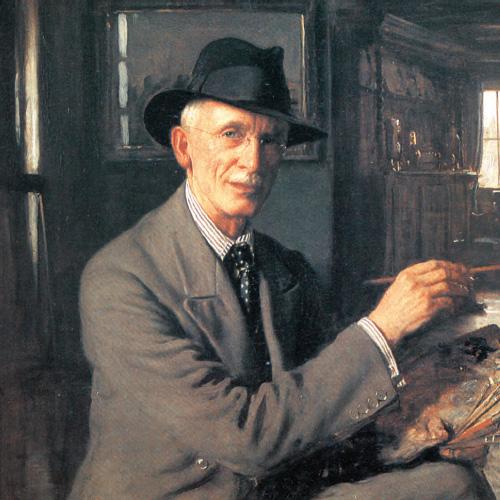Self portrait of Frederick William Elwell RA