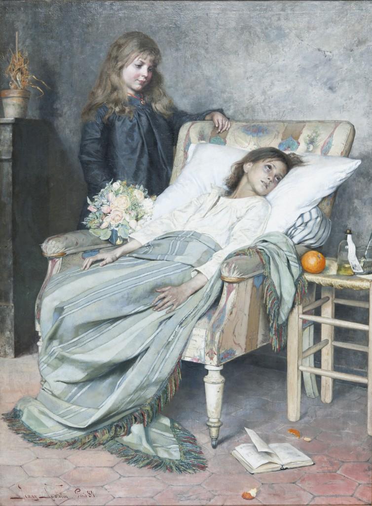 NM 7303, Jenny Nyström, Konvalescenten, Sign. 1884, Olja på duk