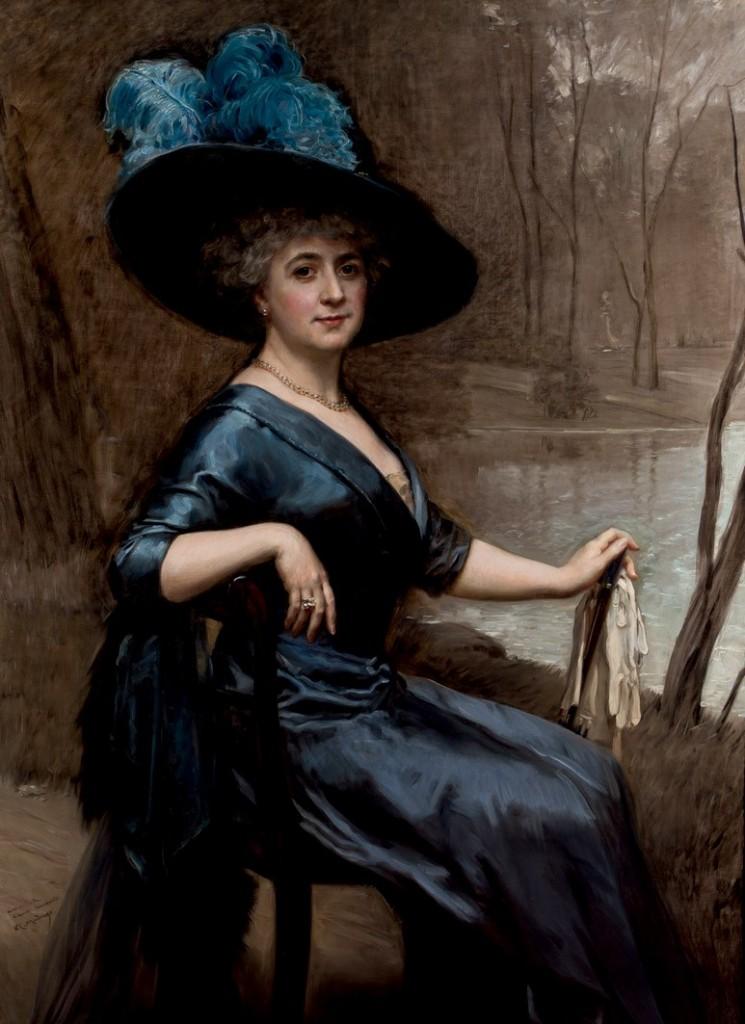 RAIMUNDO DE MADRAZO (1841-1920) - Portrait der Clarita Seminario, Öl/Lwd., 150x109 cm, signiert und datiert, 1911 Startpreis: 18.000 EUR