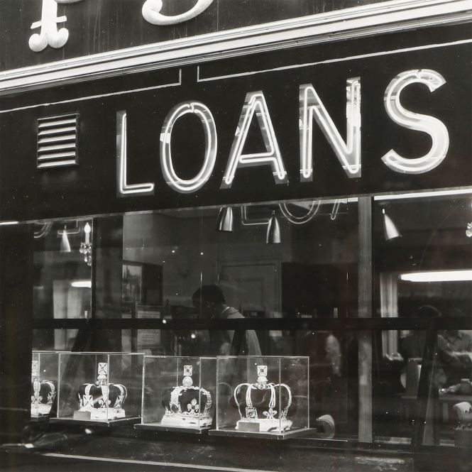 "Douchan Stanimirovitch ""Loans Jewelry New York Sunset park"", 1959  Expertissim"