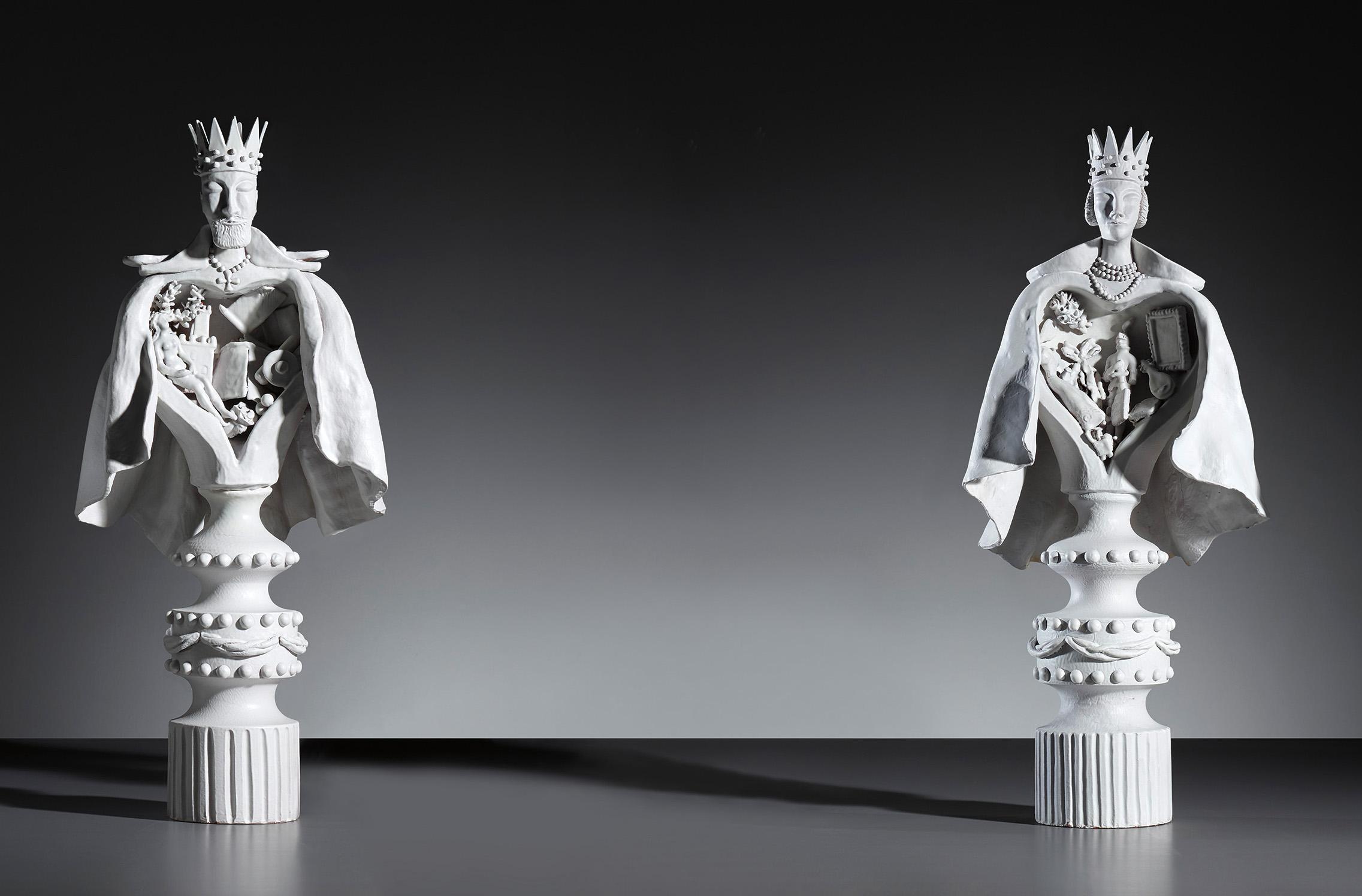 Gio Ponti, Große Statuetten von König und Königin, ca. 1951 | Foto: Cambi e Phillips
