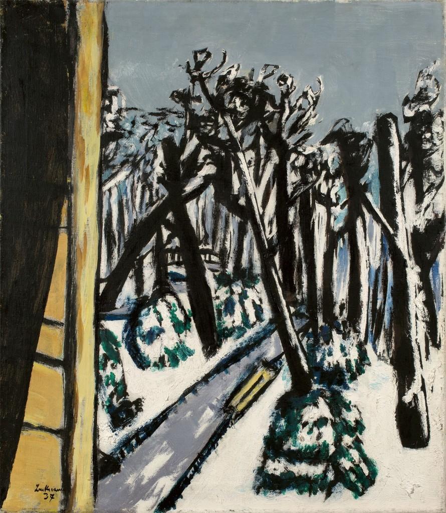 BECKMANN (Leipzig, 1884 - 1950 New York) - Animal garden in winter, oil / Lwd., Signed and dated, 1937 Max BECKMANN (Leipzig 1884 - 1950 New York)