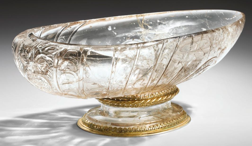 Milan, circa 1610, Important rock crystal dish