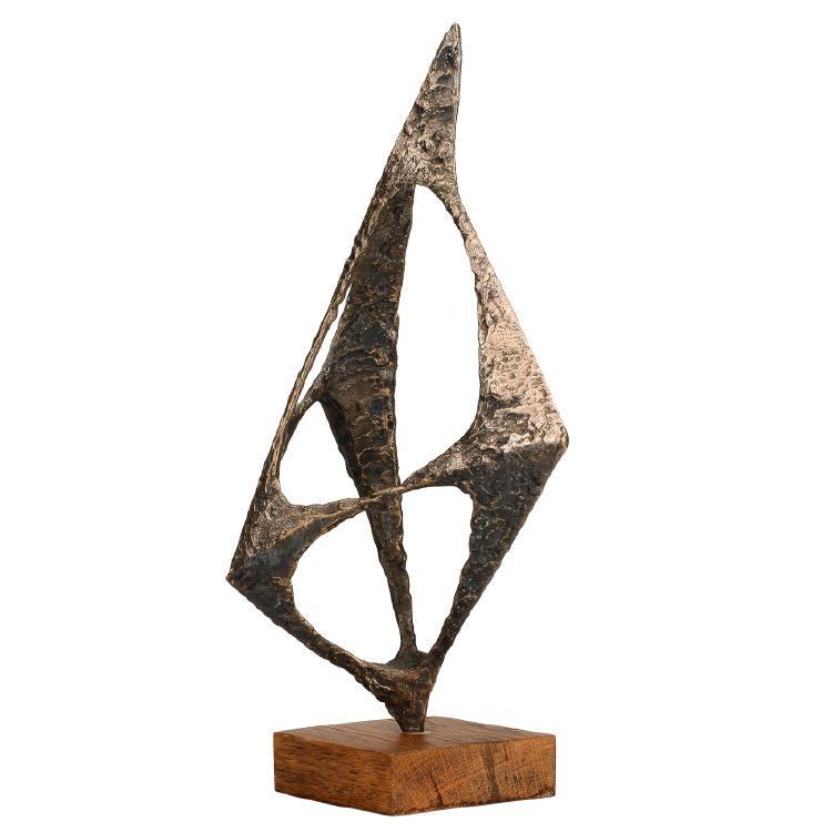 """Nr 344. Skulptur, brons (delvis försilvrad), """"Treklang"""", Arne Jones (1914-1976). Utrop: 12.000 sek. Formstad Auktioner"""