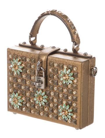 Dolce & Gabbana box crystal flower satchelThe RealReal