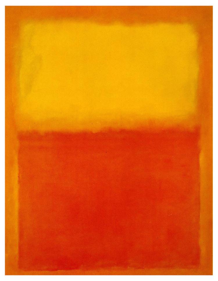 """Mark Rothko, """"Orange and Yellow"""", 1956"""