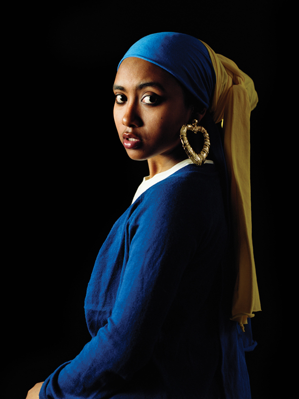 Awol Erizku, Girl with a Bamboo Earring, 2009 (譯:維梅爾,戴珍珠耳環的少女) 圖片: Artist and Hasted Kraeutler Gallery