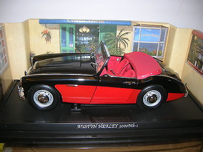 日本品牌京商 Kyosho - Scale 1/18 - Austin Healey 3000 MK l - Black-over-Red