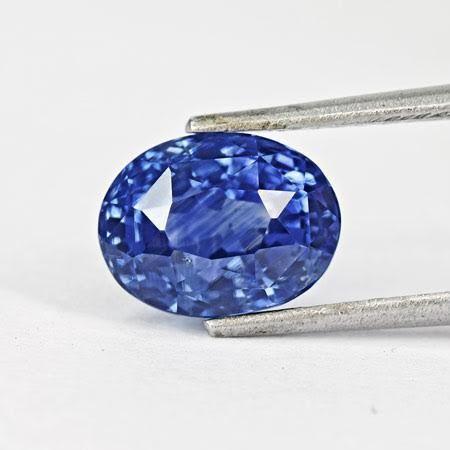 Blåklintsblå safir, Kashmir, 5,71 ct. Utropspris: 2,3 - 3,2 miljoner kronor.