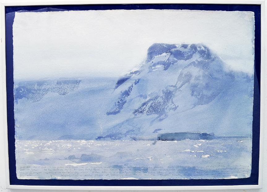 """Lars Lerin Akvarell """"Vegaön, Februari 1989"""". Utrop: 90,000-110,000 sek."""