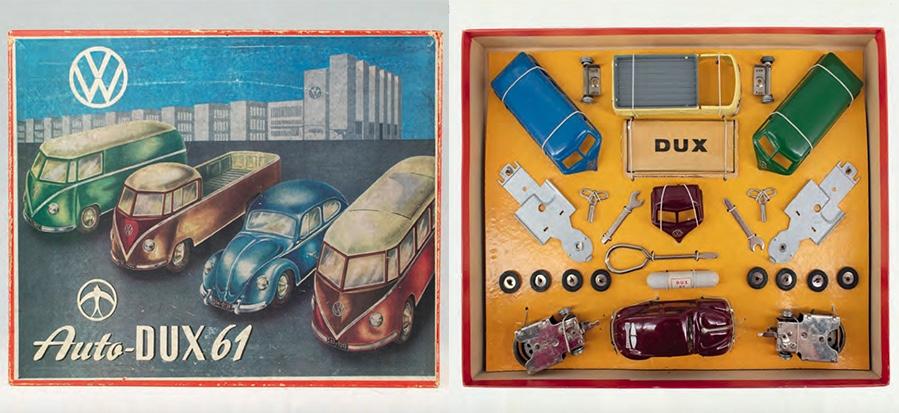 Wer sein Spielzeug gerne selbst zusammenbaut ist hiermit gut beraten: Auto-Dux Nr. 61 Baukasten mit versch. Karosserie-Varianten