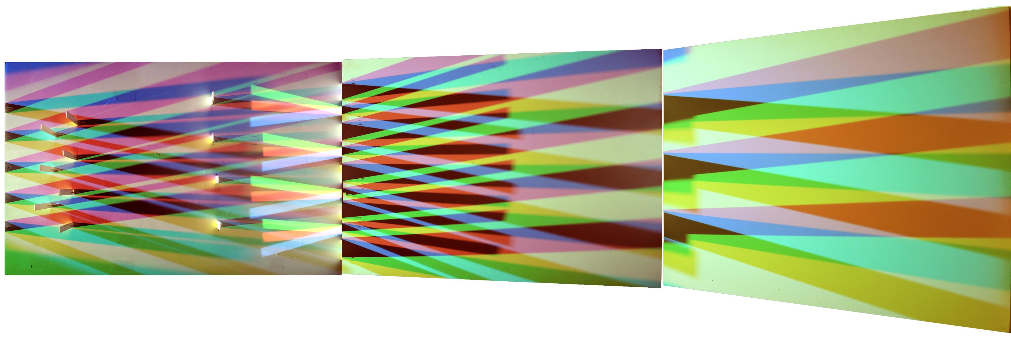 """""""L'invisible a des limites..."""" (A La lumière de Eckhart). Œuvre lumère réalisée pour  Art Élysées – Art & Design 2015"""