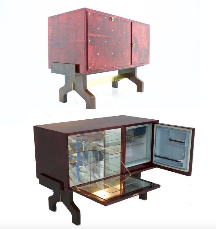 Aldo Tura - Sideboard mit Bar und Kühlschrank, Italien 1968 inside-room