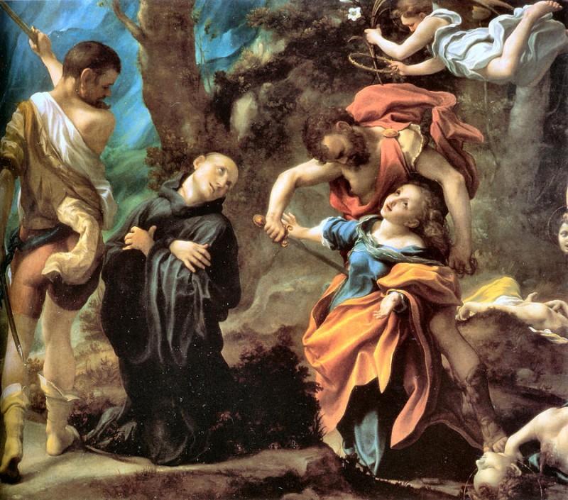 "Antonio Allegri da Correggios ""Martyrdom of Four Saints"", år 1524."