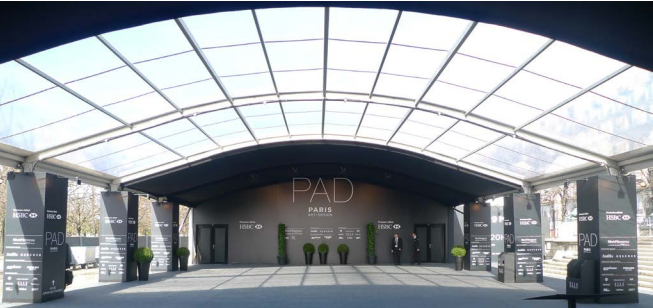 Le PAD Paris est installé aux Tuileries, royaume des Arts décoratifs et du design