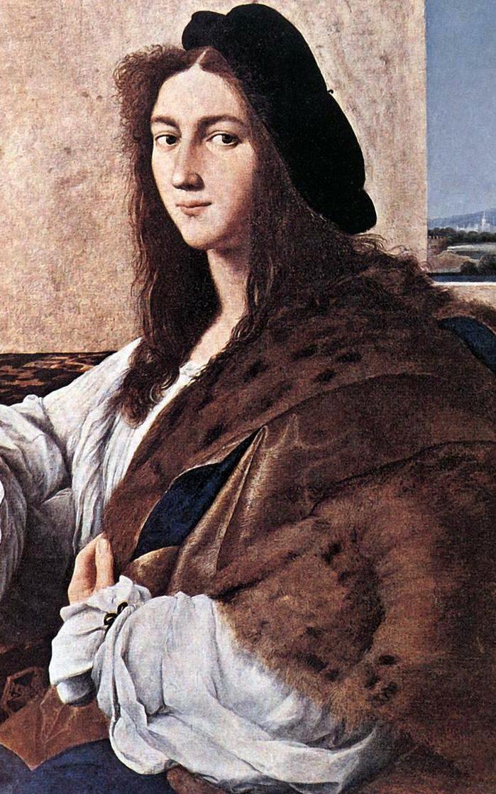 Rafael, Porträtt av en ung man, troligen 1513 - 1514.