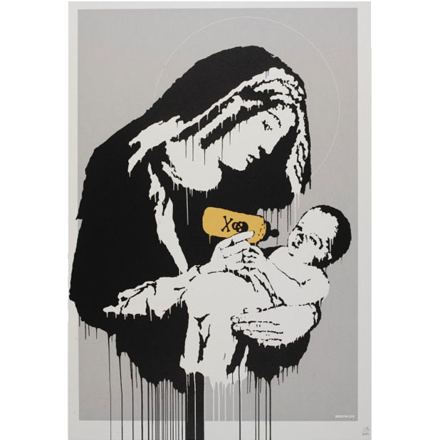 Banksy, Toxic Mary Edition of 600 Numbered, with full pest control certificate of authenticity (COA). On sale at Graffiti Street