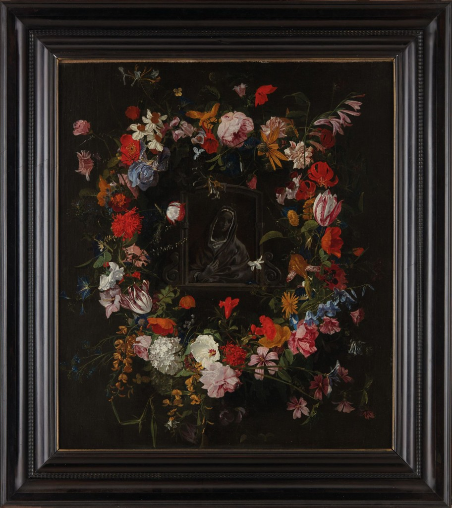 Madonna in a Flower Garland, Galle the Elder. Early 17th century, oil on canvas.
